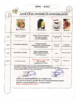 Menu Primaire S46 du 09 au 13 nov. 2020