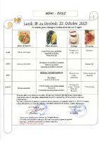 Menu Primaire S42 du 18 au 22 octobre 2021